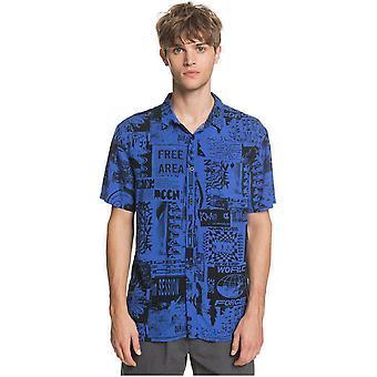 Quiksilver Fluid Geo Lyhythihainen paita Häikäisevä Blue Vortex