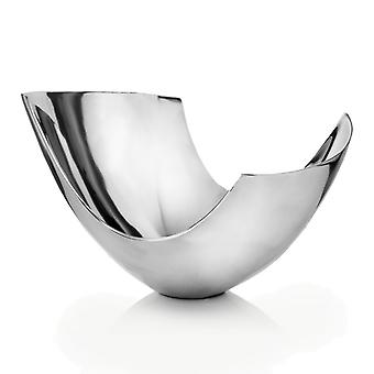Silver Aluminum Abstract   Tray Dish Centerpiece Bowl