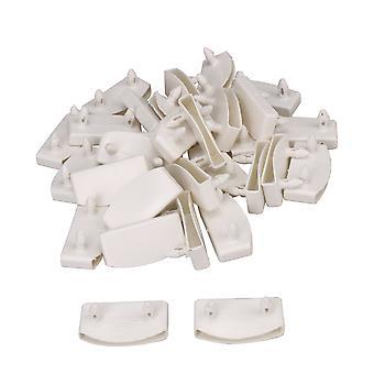 30 x longitud interior blanca 55mm de plástico de listón de la cama extremo de los soportes accesorio