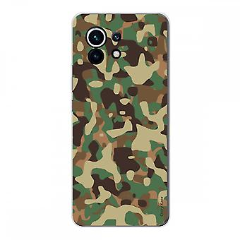 Hülle für Xiaomi Mi 11 Weich Silikon 1 Mm, Militär Camouflage