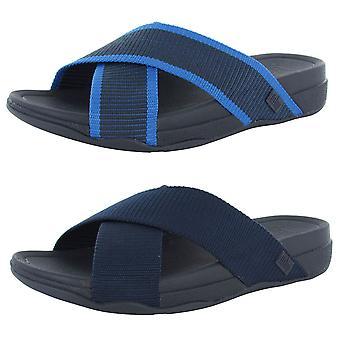 Fitflop Surfer Para Hombre Slide Cross Strap Sandal Shoes