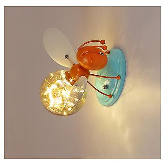 LED cartoon firefly lamp for children's room, 220V 5W bedside personality gypsophila firefly wall