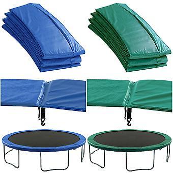 Almohadilla de seguridad de reemplazo de trampolín premium (cubierta de primavera) Relleno verde o azul