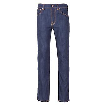 Nudie Jeans Co Lean Dean Slim Fit Jeans - Dry Ecru Embo