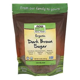 Now Foods Organic Dark Brown Sugar, 16 Oz