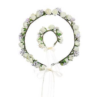 כיסוי ראש הכלה שושבינה חתונה זר גרלנד