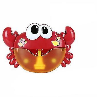 12 Song Muzikale Krab Bubble Maker Baby Kinderen Bad Douche Speelgoed (Rood)