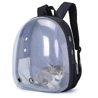 Portable outdoor pet cat panoramic transparent breathable backpack