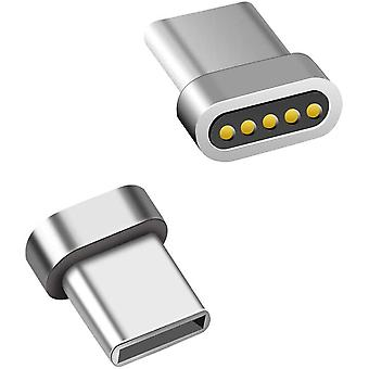 2pcs Type C Magnetic Adapter Magnetic Replacement Plug-without Cable