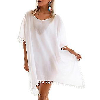 שמלה רופפת גדולה בגדי חוף ציצית Suncreen ביקיני לכסות