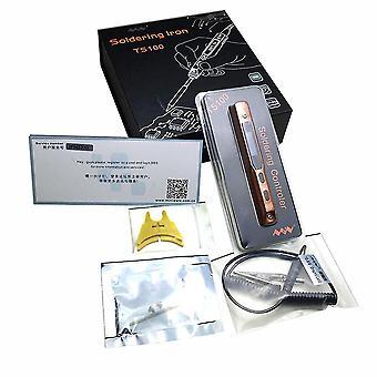 Mini Kannettava Ohjelmoitava Ts100 Sähköjuominen Rauta Digitaalinen Lcd-setti