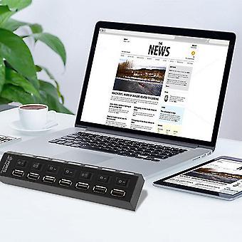Ein/Aus Schalter 7 Port Usb 2.0 High Speed Hub Sharing Switch für Laptop Pc