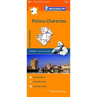 PoitouCharentes  Michelin Regional Map 521