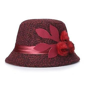 Elegant Party Ladies Fedoras Winter Warm Woolen Hat