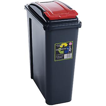 Wham Recycling Bin 25Ltr Red