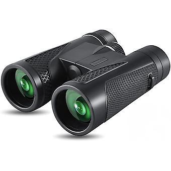 Jumelles, jumelles HD 12x50 Jumelles compactes adultes pour l'observation des oiseaux pour l'observation des oiseaux, randonnée, chasse, tourisme, petit, voyage BAK4 Prism FMC Lens,(noir)