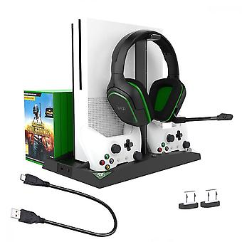 Para Xbox One S Cooling Vertical Stand Dual Controller Charging Station