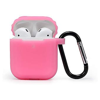 Case Cover Compatible With Airpods 2 & 1, Front Led Visible With Hook