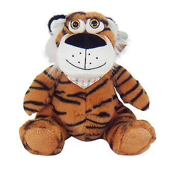 25cm plysch sittande tiger mjuk leksak