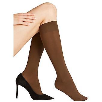 Falke Seidenglatt 40 Den Knee High Panty ' s - Coffee Brown