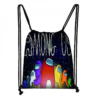 Among Us Game Peripheral Bundle Pocket Polyester Travel Outdoor Shopping Bags With Large Capacity