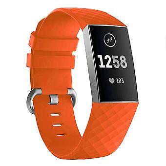 Pulsera de silicona compatible con Fitbit Charge 3 (naranja)