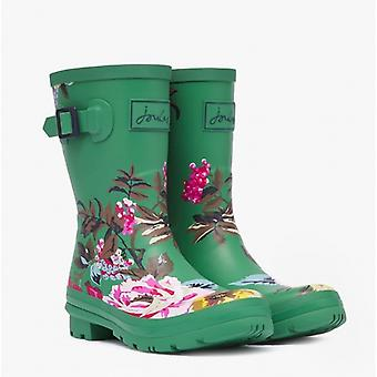 Joules Molly Welly Ladies Gummi Mid Height Wellies Grønne Florals