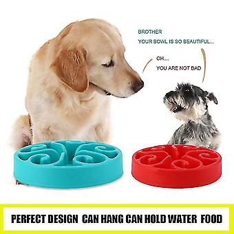 Sund mad Bowl Langsom Spise Anti-kvælning Anti Choke Hund Kæledyr Feeder Bowl