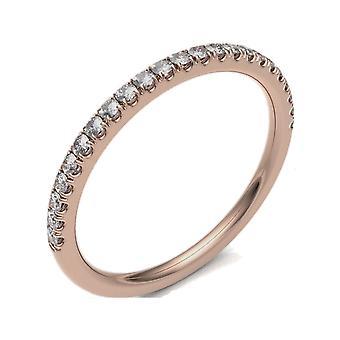 HS Johnson HSJ-CSM175A Women's Diamond Set Half Eternity 18ct Rose Gold Ring