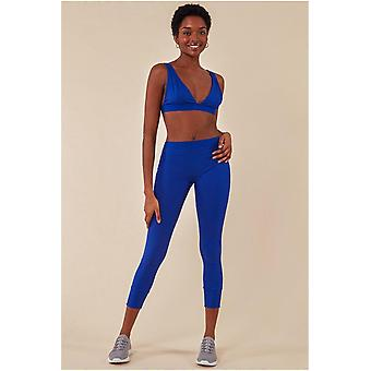 Cosmochic Bralette & Legging Workout Lounge Set - Blue