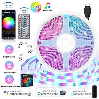 16Ft-66ft 5m-20m led strip lights kit music sync wifi app+ 44keys remote control for room