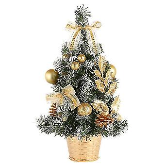 Kunstmatige mini kerstboom tafelblad kerstboom met led licht en dennenappels