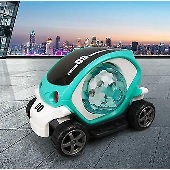 3D-sähköauto-lelu ääni- ja valomallilla Universal Pyörivät värikkäät musiikki leluajoneuvot