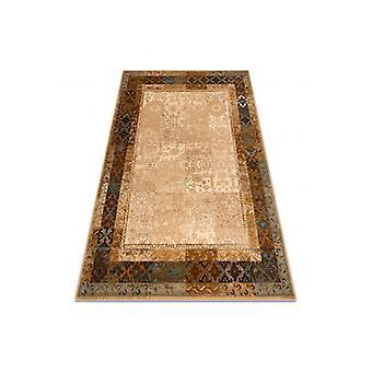 Wool rug OMEGA LUMENA ethnic, vintage camel