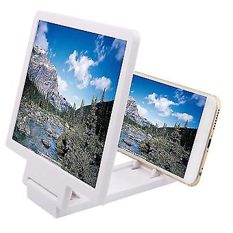 Projection screens 3d screen amplifier and enlarger for phones white