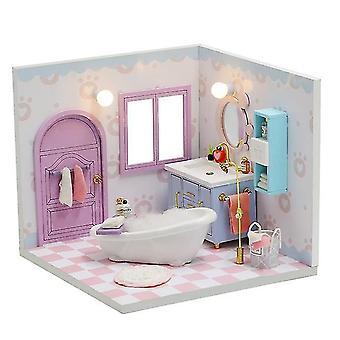Cutebee diy doll house dřevěné panenky domy miniaturní dollhouse nábytek kit hračky pro děti