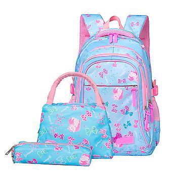 3 Pcs Teen Girl School Backpacks