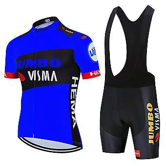 2021 Nouveaux Modèles Été Hommes Sport de Plein Air Cyclisme Jersey Quick Dry Bicycle Vêtements Respirant VTT Vélo Cyclisme Combinaison
