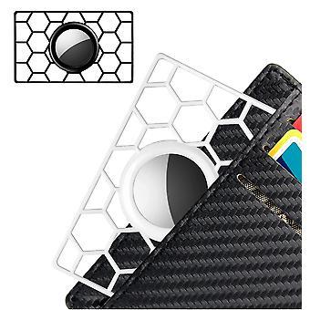 2 Pcs Airtag Holder For Wallet,slim Thin Card Case Holder For Apple Airtag, Credit Card Size Airtag Wallet Card Holder,black,white