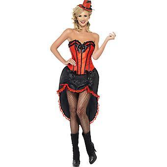 Burlesque danseres kostuum danseres erotische jurk zwart rood dames