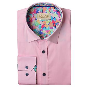 Dolce Abstract Trim Collar Mens Shirt