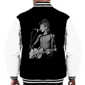 David Bowie Ziggy Stardust Guitar Hammersmith Odeon 1973 Men's Varsity Jacket