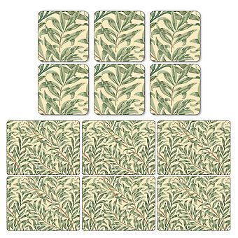 Pimpernel Willow greinene grønne Placemats og Coasters sett