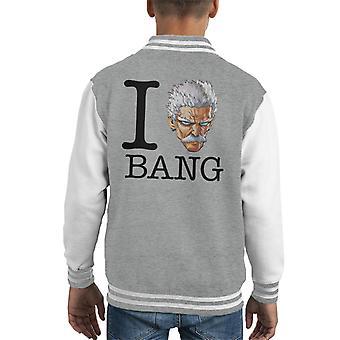 I Heart Bang One Punch Man Kid's Varsity Jacket
