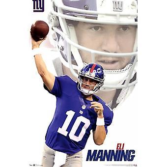 NY Giants - E Manning 12 affisch Skriv