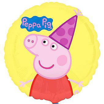 Anagram Peppa Pig 18 Inch Circle Foil Balloon