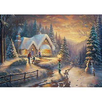 Gibsons Thomas Kinkade Country Christmas Homecoming Jigsaw Puzzle (1000 pieces)