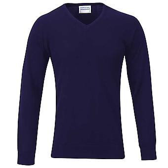 Maddins Mens V Neck Fully Fashioned Jumper