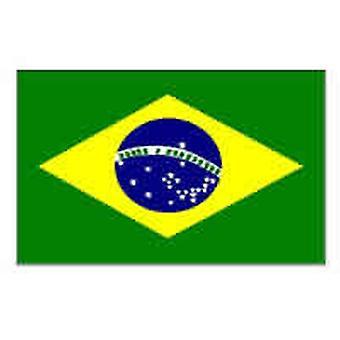 Drapeau brésilien 5ft x 3 pieds avec oeillets pour Hanging