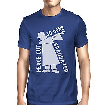 Graduated Dab Dance T-Shirt Blue Funny High School Graduation Tee